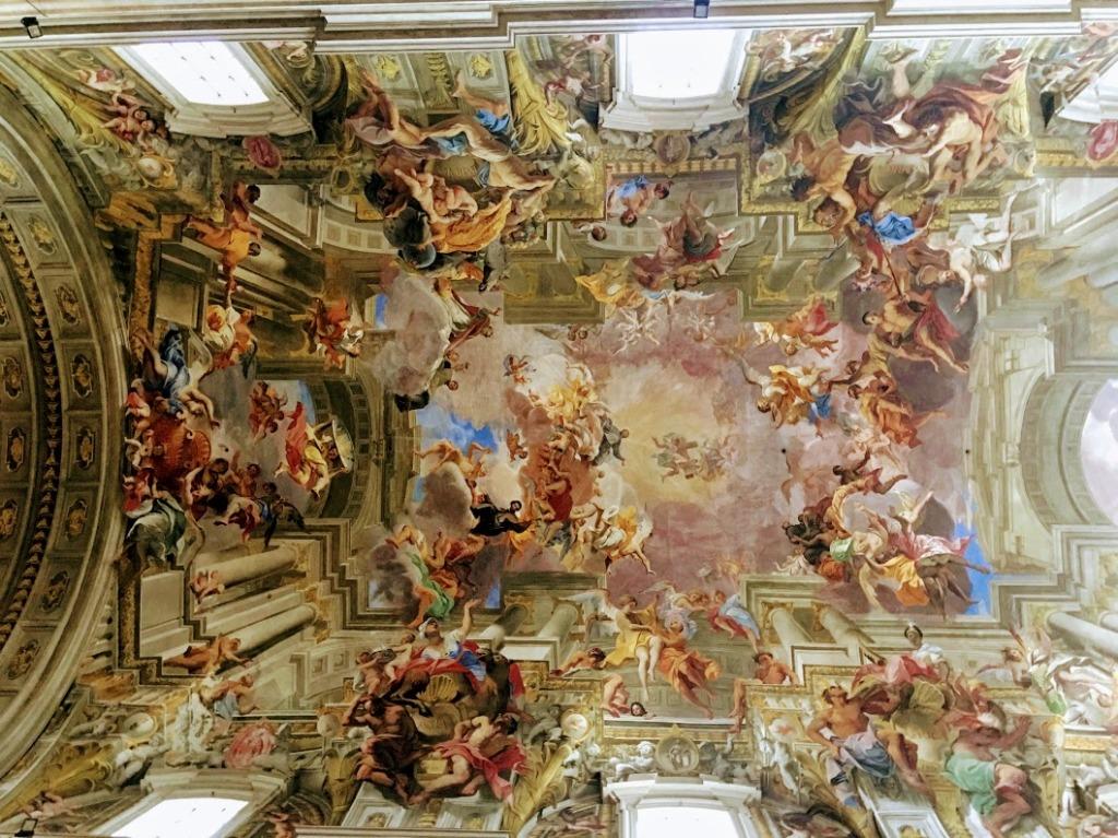 Fresco on ceiling in Sistine chapel, Vatican city