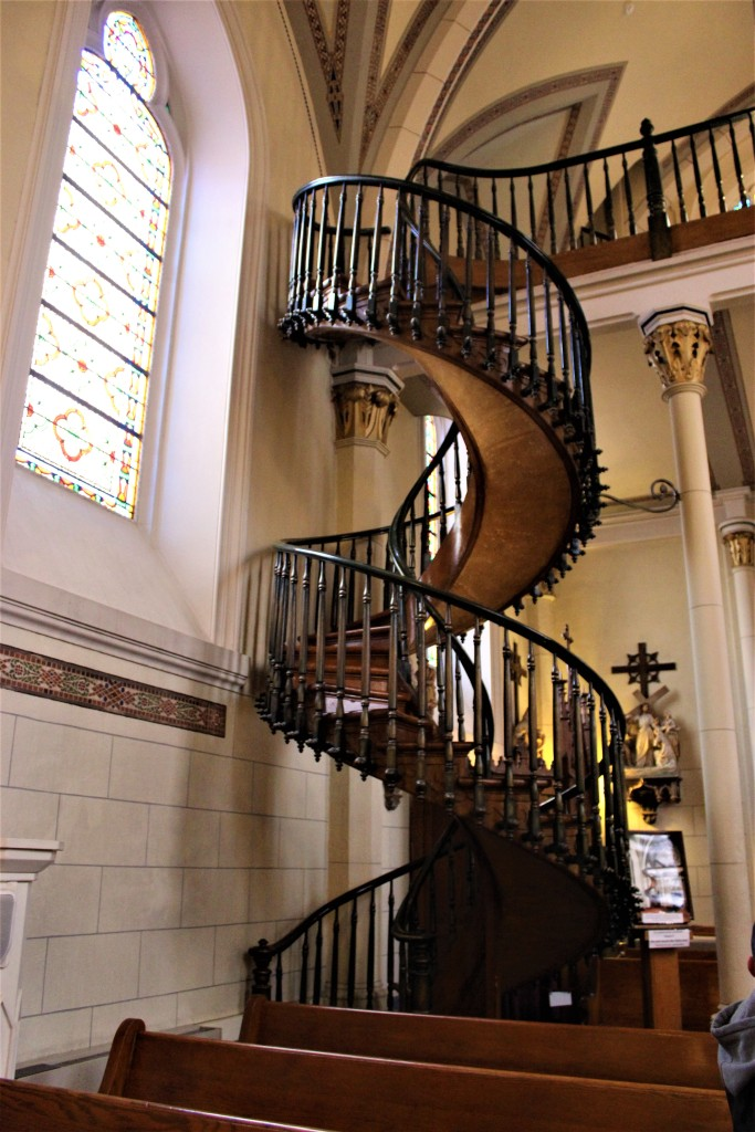 The spiral stairway without a central support pole.