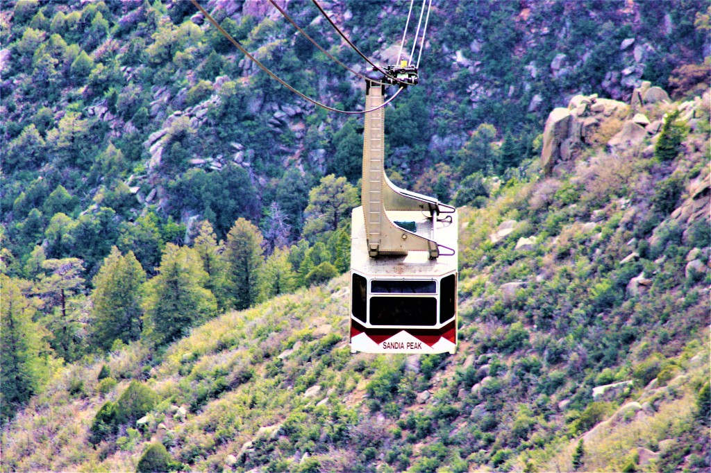 A tramcar coming up the mountain