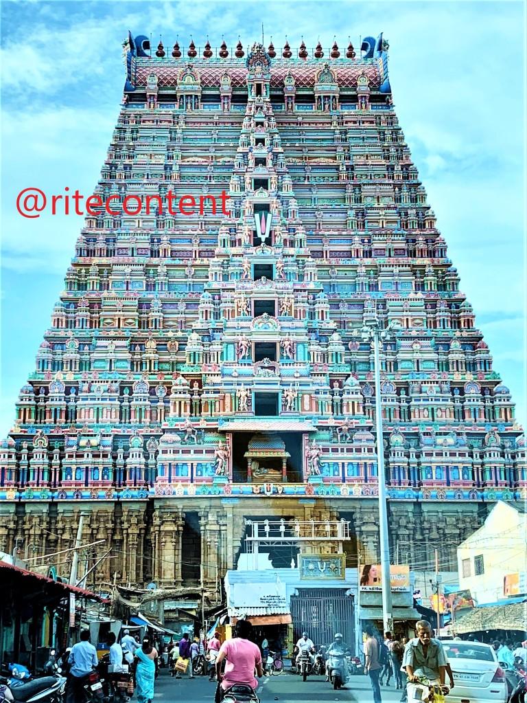 The Rajagopuram at Srirangam