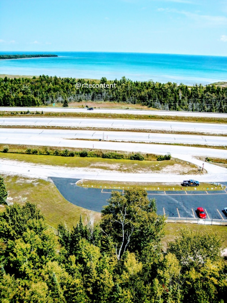 View of Lake Huron from the Panoramic View Point