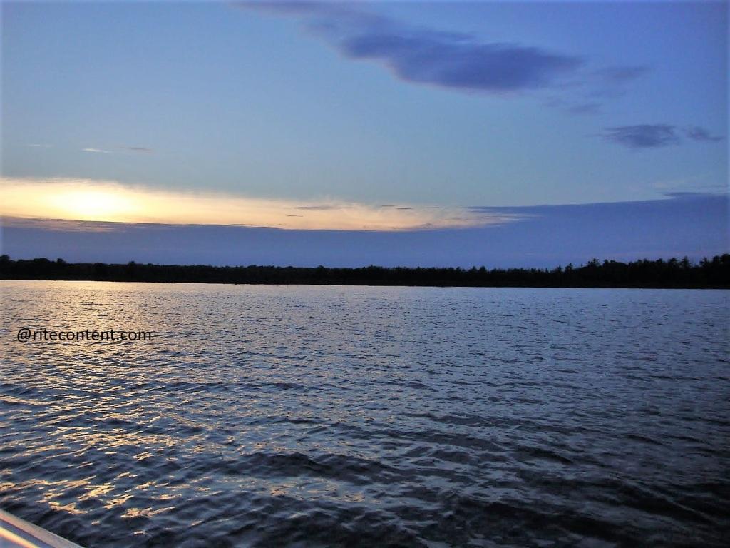 Sunset over Burt Lake