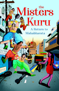 book cover showing the five pandavas and a modern day draupadi