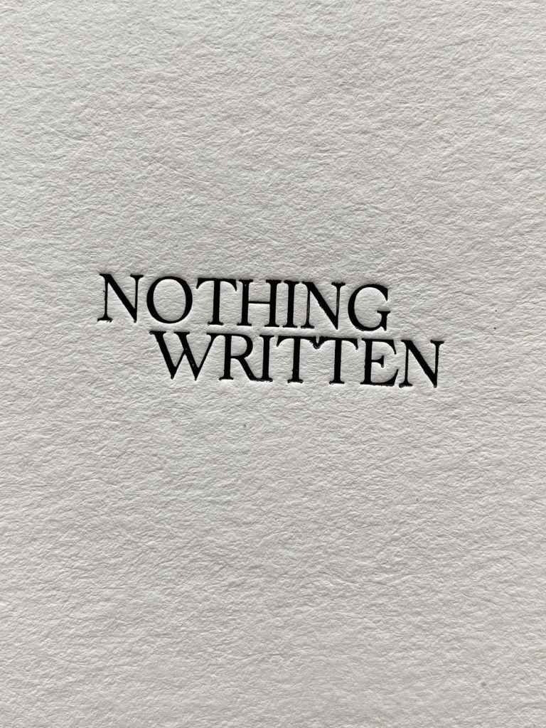 a blank sheet with the words nothing written typed on it. Why should you write well